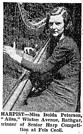 Isolde Peterson pictured in The Irish Times (16 May 1942).