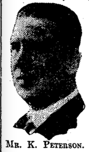 Image of Peterson in The Irish Times, 19 June 1929.