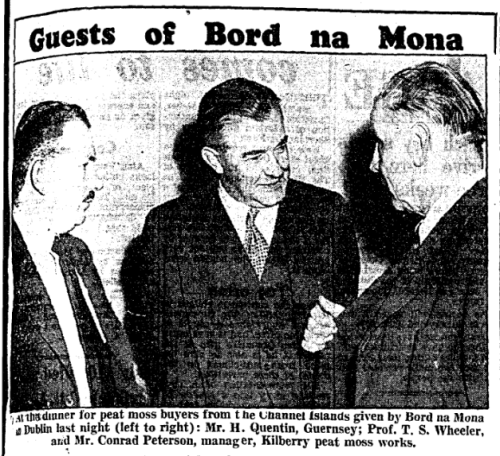 Peterson pictured in The Irish Press, 22 August 1956.