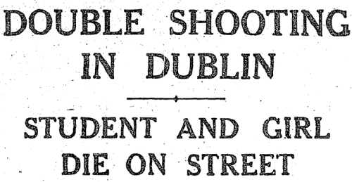 Headline in The Irish Times, 13 April 1942.