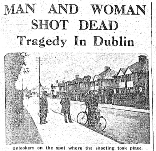Scene on the Howth Road, 1942. The Irish Independent, 13 April 1942.