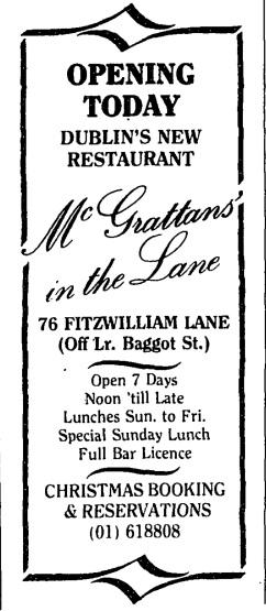 McGrattan's. The Irish Times, 30 November 1989.