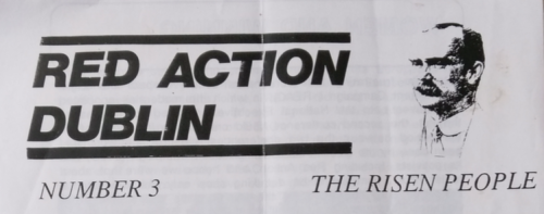 Red Action (Ireland), newsletter no. 3.